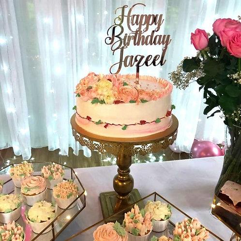 Floral Theme Cake
