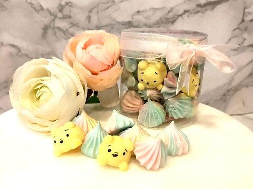Winnie The Pooh Rainbow Meringue Kisses Cookies