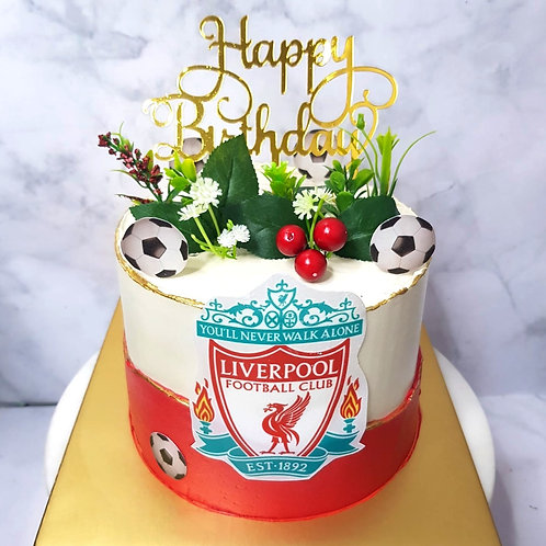 Liverpool Football Soccer Red And White Money Pulling Cake