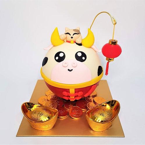 Cow Knock Knock Pinata Surprise Cake