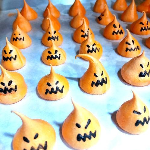 Orange Pumpkin Meringue Kisses
