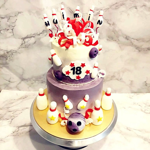Bowling Two Tier Cake