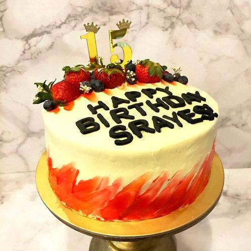 Watercolor Berries Cake