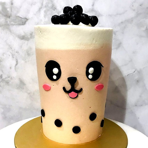 Real Bubble Tea Drink in a Cake 12