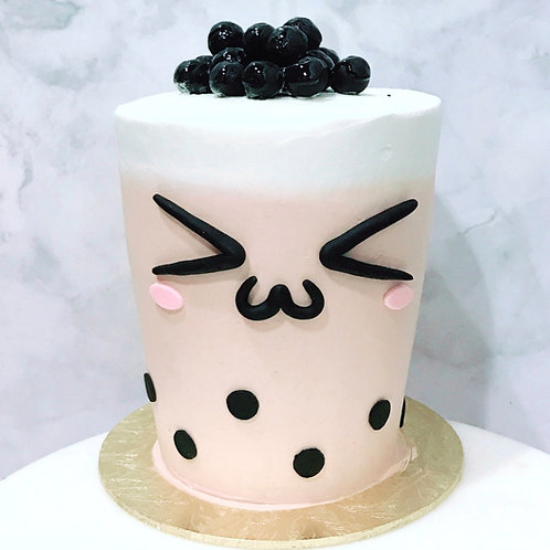 Real Bubble Tea Drink in a Cake 4