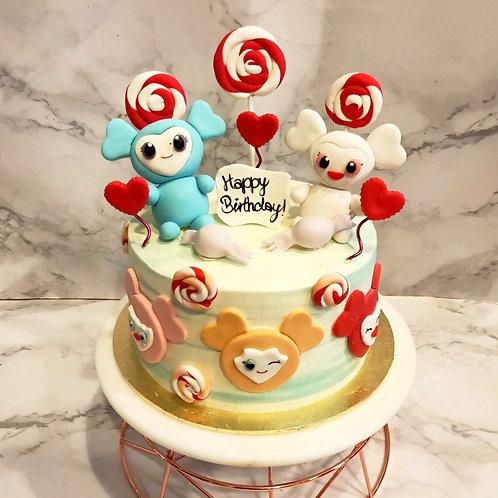Korean Twice Lovely Doll Cake