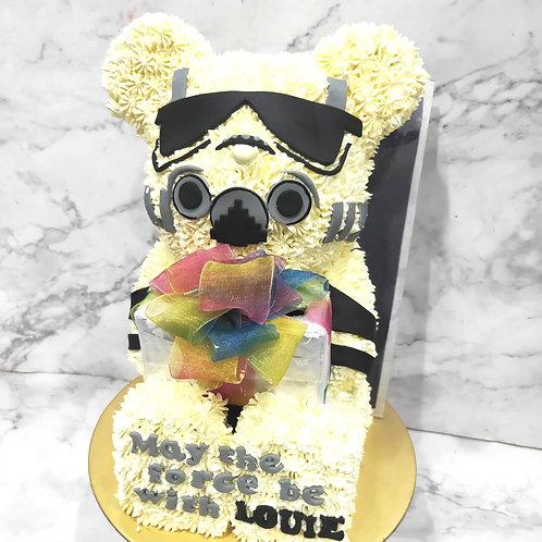 Stormtrooper Bear Brick Money Pulling Cake