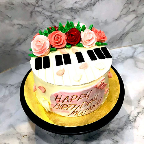 Floral Piano Cake