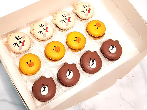Line Bear Friends Macarons