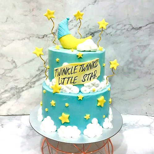 Twinkle Little Star Two Tier Cake