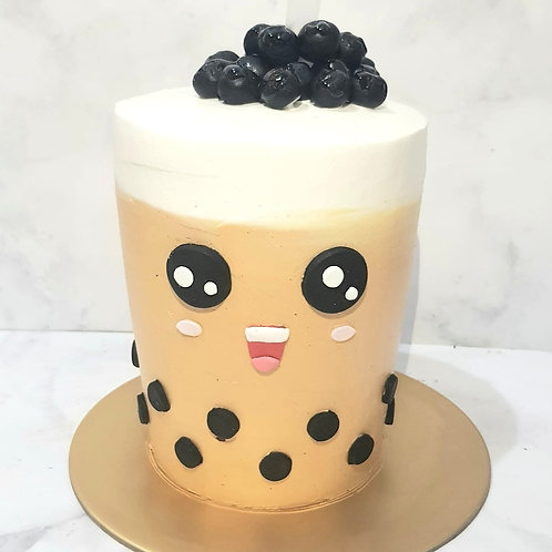 Real Bubble Tea Drink in a Cake 7