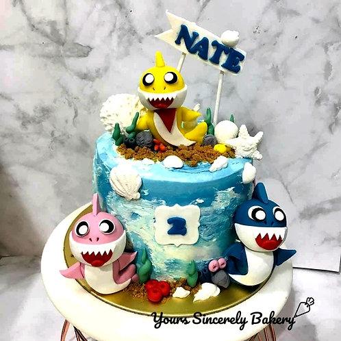 Baby Shark Themed Cake