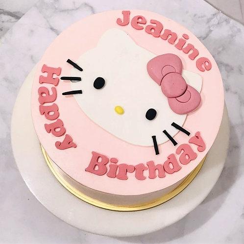 Hello Kitty 2D Pastel Pink Cake