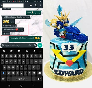 Gundam Rider Blue & White Themed Cake