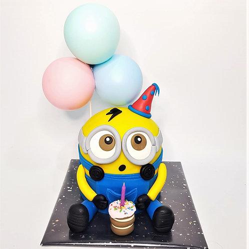 Minion Party Theme Cake