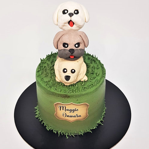 Three Little Dogs Cake