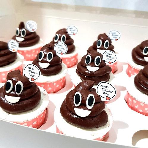 Poop Cupcakes (12pcs)
