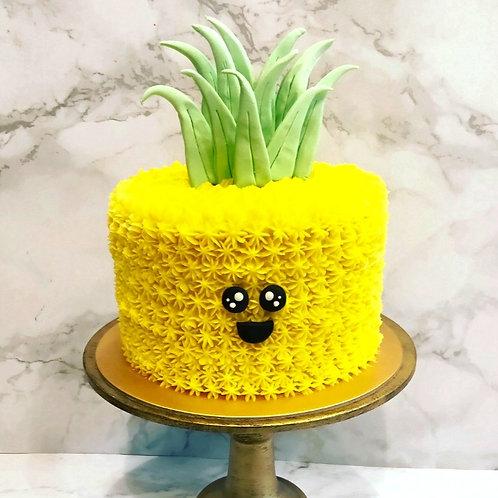 Cute Pineapple Cake For Tropical Theme