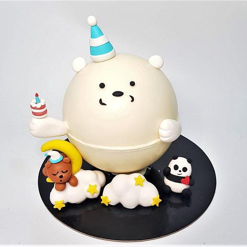 We Bare Bears Themed Knock Knock Pinata Cake