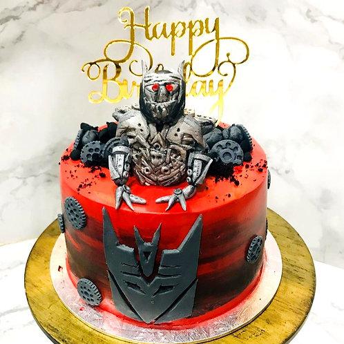 Megatron Transformer Money Pulling Cake