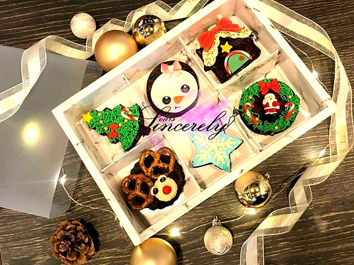 Assorted Christmas Brownies