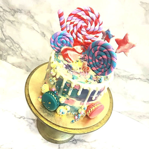 Rainbow Candy Themed Cake