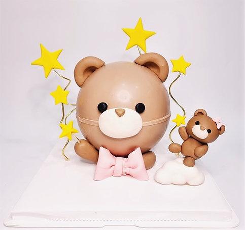 Bear Knock Knock Pinata Cake