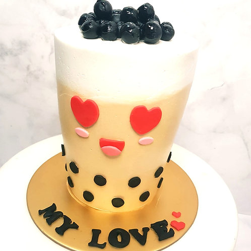 Real Bubble Tea Drink in a Cake 9