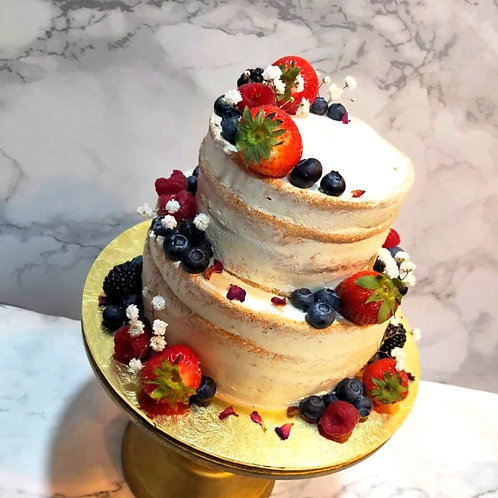 Berries Naked Cake