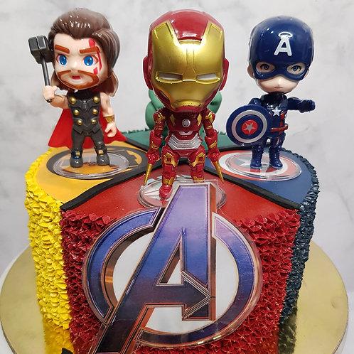 Avengers Iron Man Captain America Thor The Hulk Themed Cake