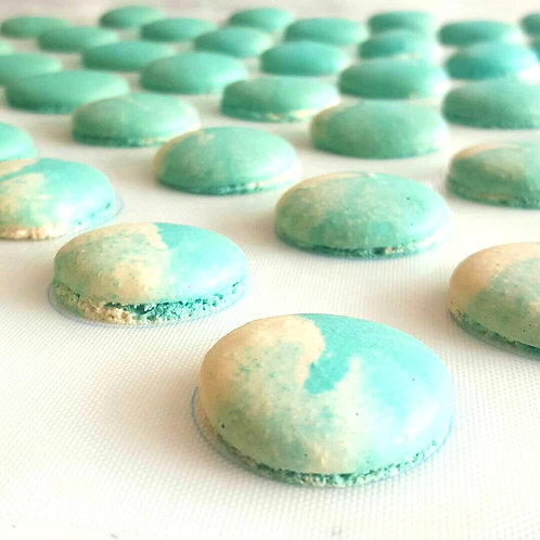 Ocean Blue Macarons