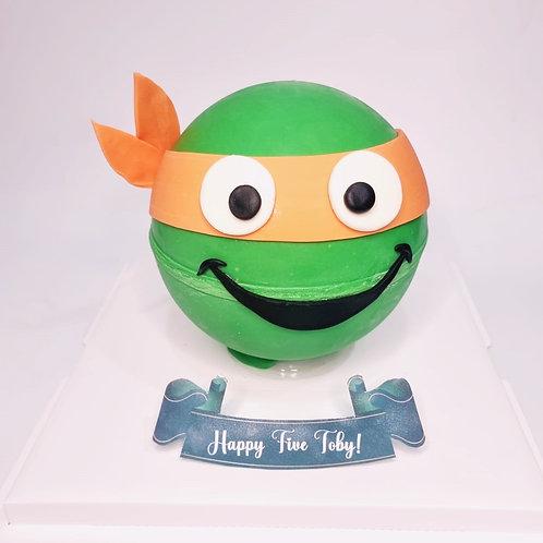 Ninja Turtle Knock Knock Pinata Cake
