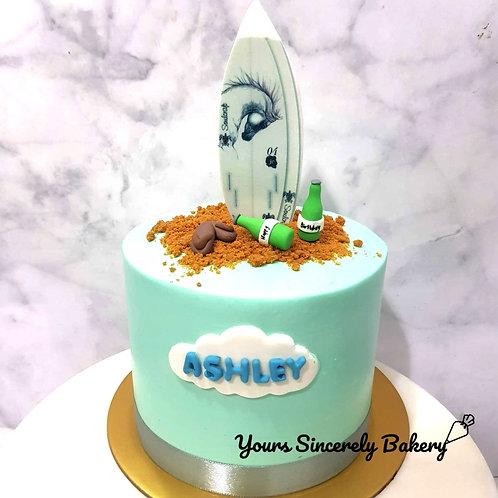 Customised Skateboard Beach Cake