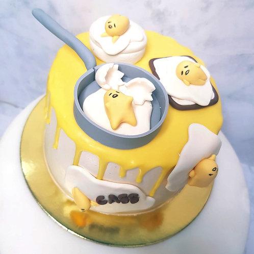 Gudetama Japan Lazy Egg Drip Cake