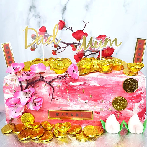Longevity Blossom Flowers Double Money Pulling Cake