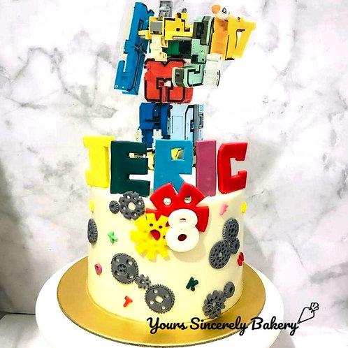 Alphabet Robot Cake