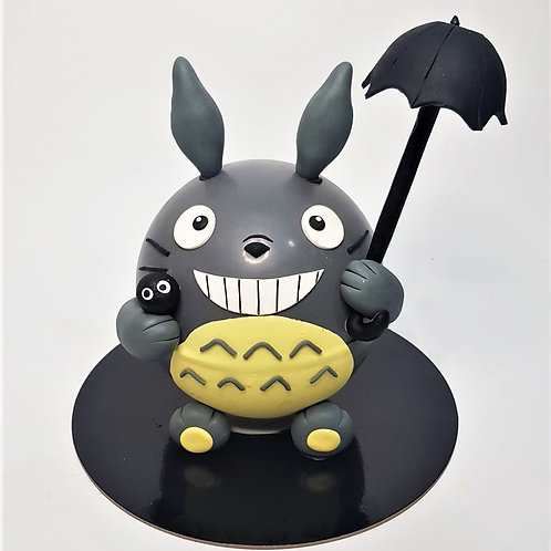 Totoro with Umbrella Knock Knock Pinata Cake