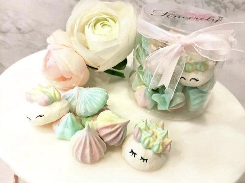 Unicorn Rainbow Meringue Kisses Cookies