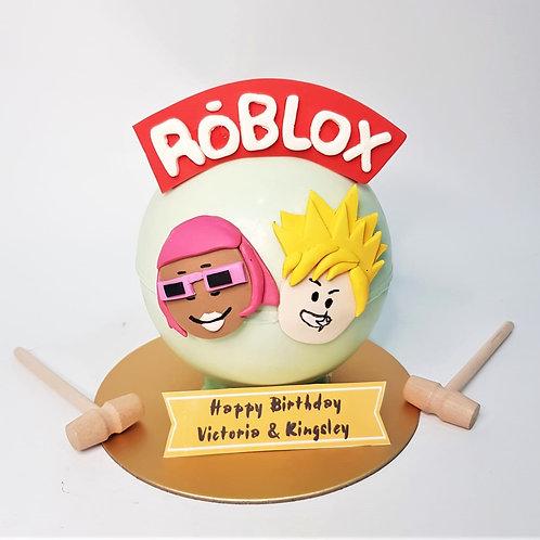 Roblox Game Themed Knock Knock Pinata Surprise Cake 2