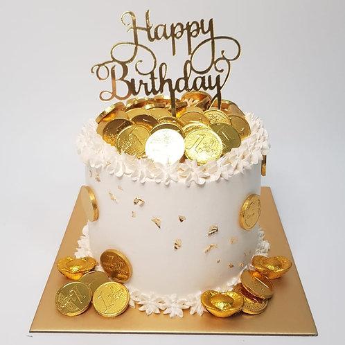 Simple Money Pulling Cake