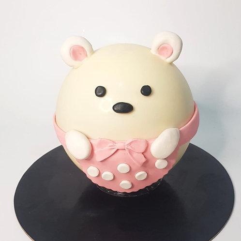 Cute Bear Knock Knock Pinata Surprise Cake