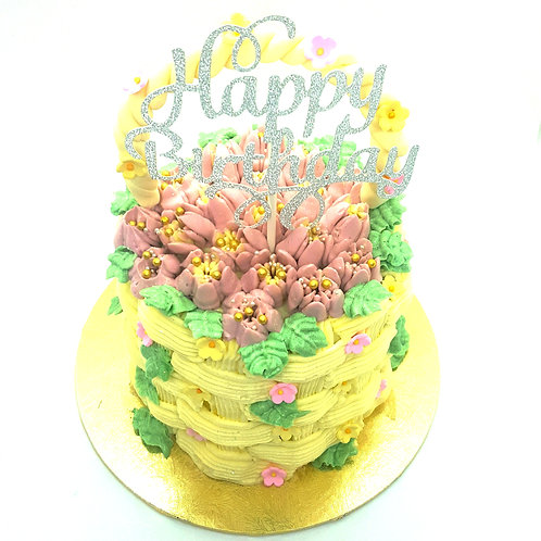 Basket of Flowers Tulip Cake