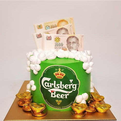 Carlsberg Beer Money Pulling Cake