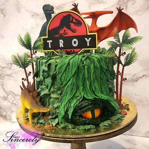 Jurassic World Dinosaur Cake