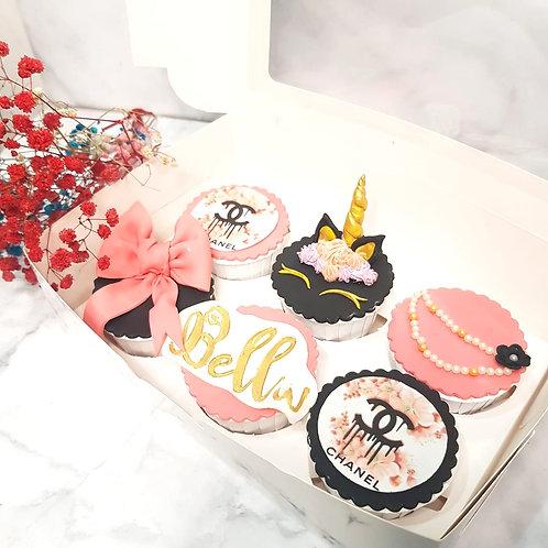 Unicorn Chanel Pink & Black Themed Cake