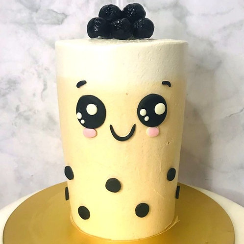 Real Bubble Tea Drink in a Cake 15