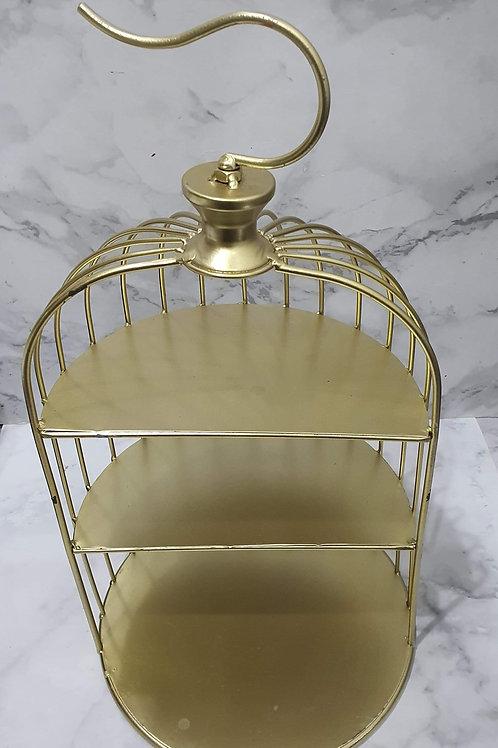 Gold Bird Cage Desserts Stand