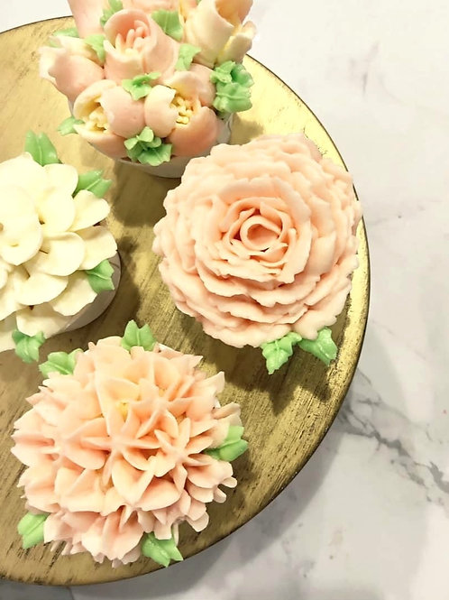 Pink Floral Cupcakes (12pcs)