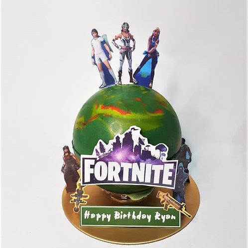 Fortnite Game Themed Knock Knock Pinata Surprise Cake