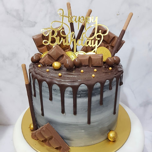 Chocolate Drip Money Pulling Cake 2